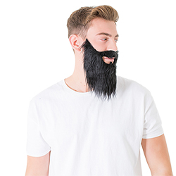 A side view of the beard