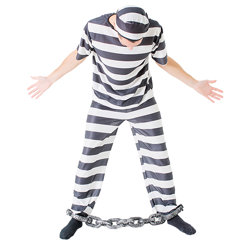 A convict in shackles