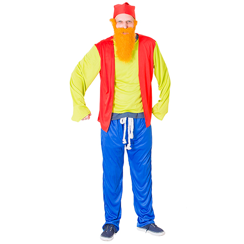 Gnome costume with red hat