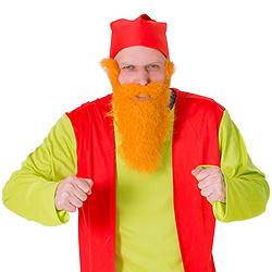 The ginger beard.