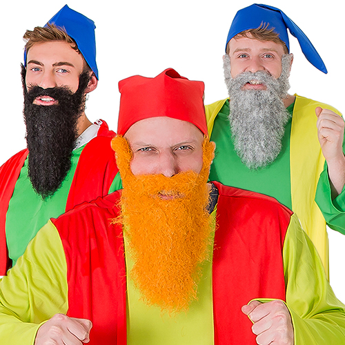 A picture showing all three colours of beard.