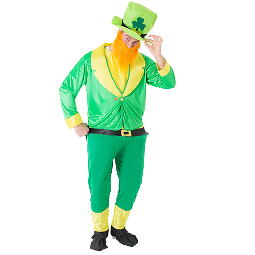 Green and gold Leprechaun costume