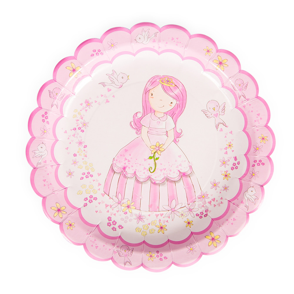 Princess Party Paper Plate
