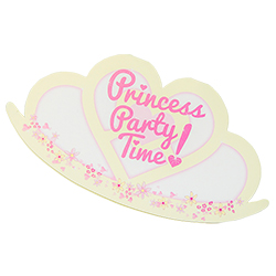 A close up of the princess party invite