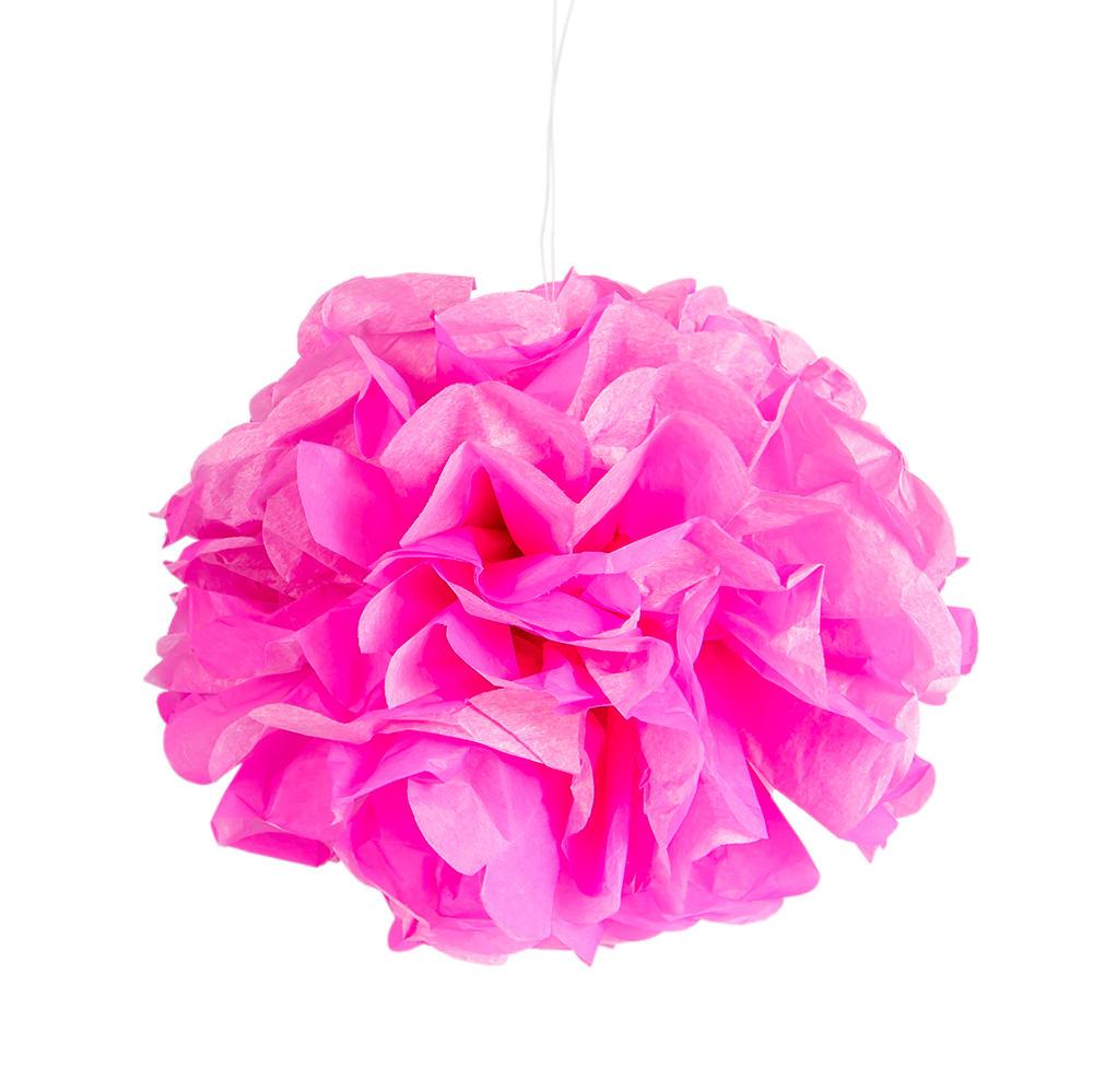 Tissue Paper neon pink pom pom