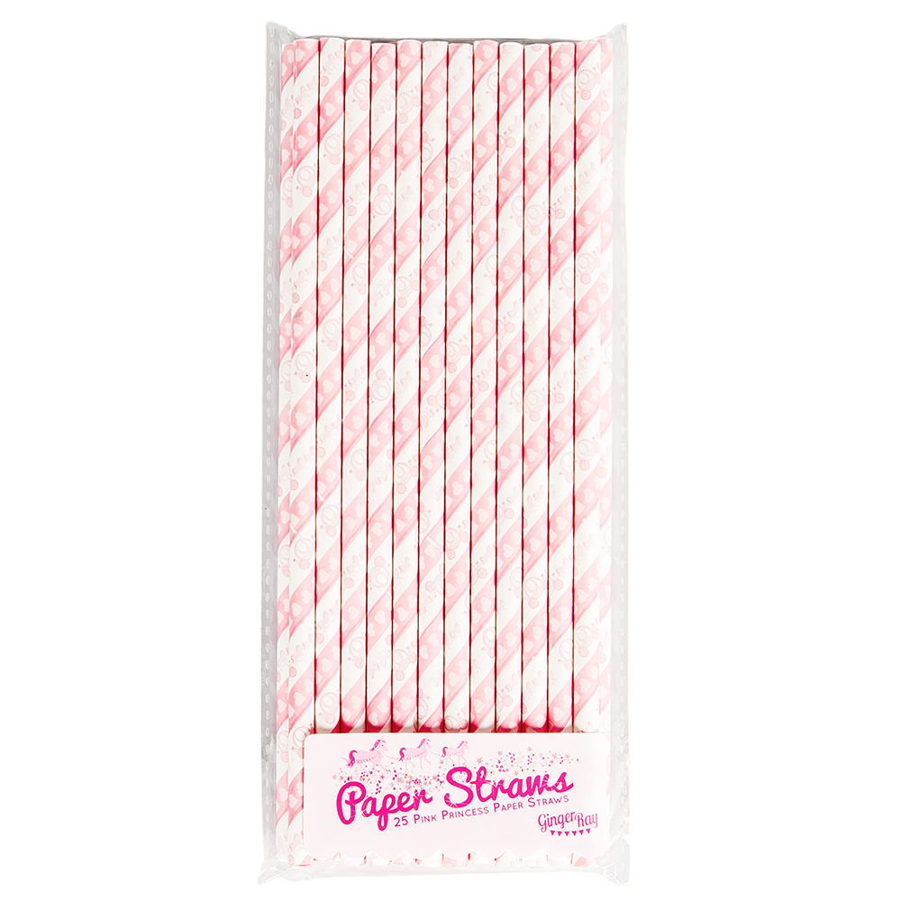 Packet of Pink Paper Straws