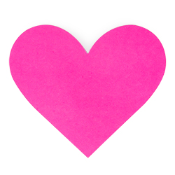 Pink loveheart sticker for the bags