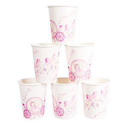 The full pack of Princess Party Paper Cups