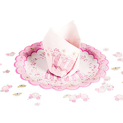 The quaint princess party napkin on a gorgeous princess plate