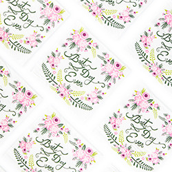Fancy Floral Best Day Ever Napkins