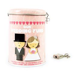 Wedding Fund Tin with lock