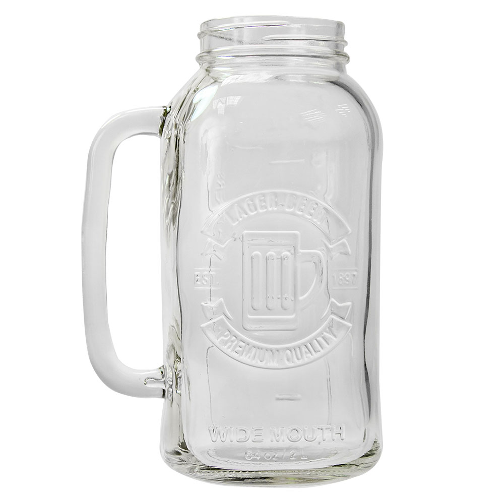 Mason jar beer stein