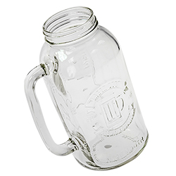 The beer stein at a slight angle