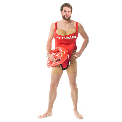 Baywatch themed lifeguard outfit