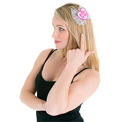 Miss Newcastle 2015 wearing Bride to Be Hair Clip