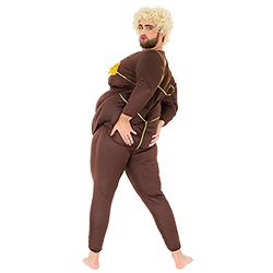 Lap dancer costume modelled whilst model holds bottom