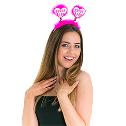 White Bride to Be Head Boppers On White Background