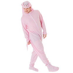 Man posing in the pig costume