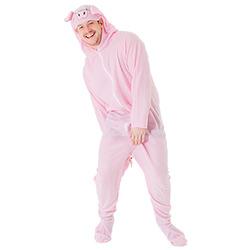 Full length shot of man in pig costume