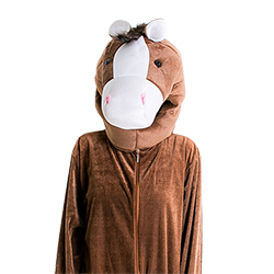 Horse costume modeled from the front