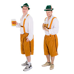 These great hats are a perfect part of a lederhosen costume