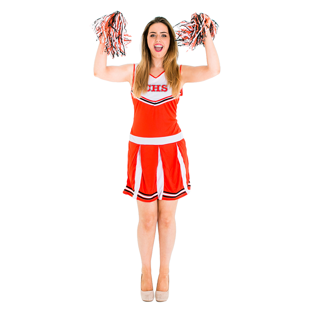 Cheerleader Costume with pompoms