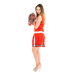 The cheerleader costume from the side