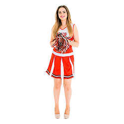 Cheerleader costume frrom the front