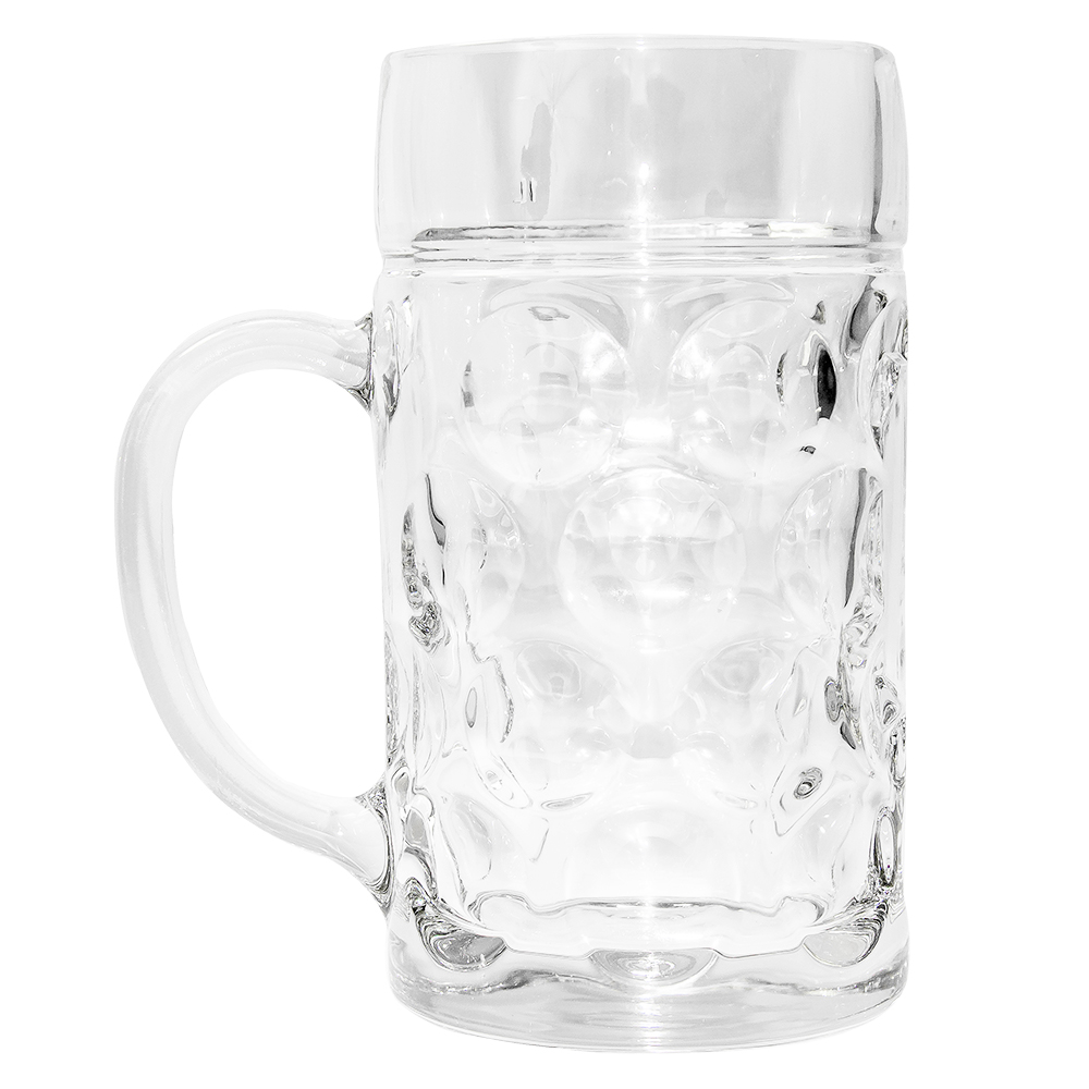 Beer stein filled with beer