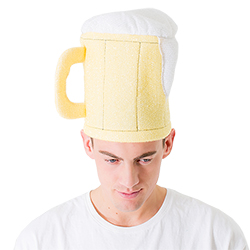 Close up of beer hat