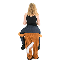 The back of the Carry Me Horse costume