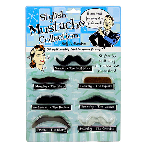 Comedy Moustache Selection Packaging