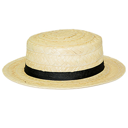 Straw Boater Hat lying flat