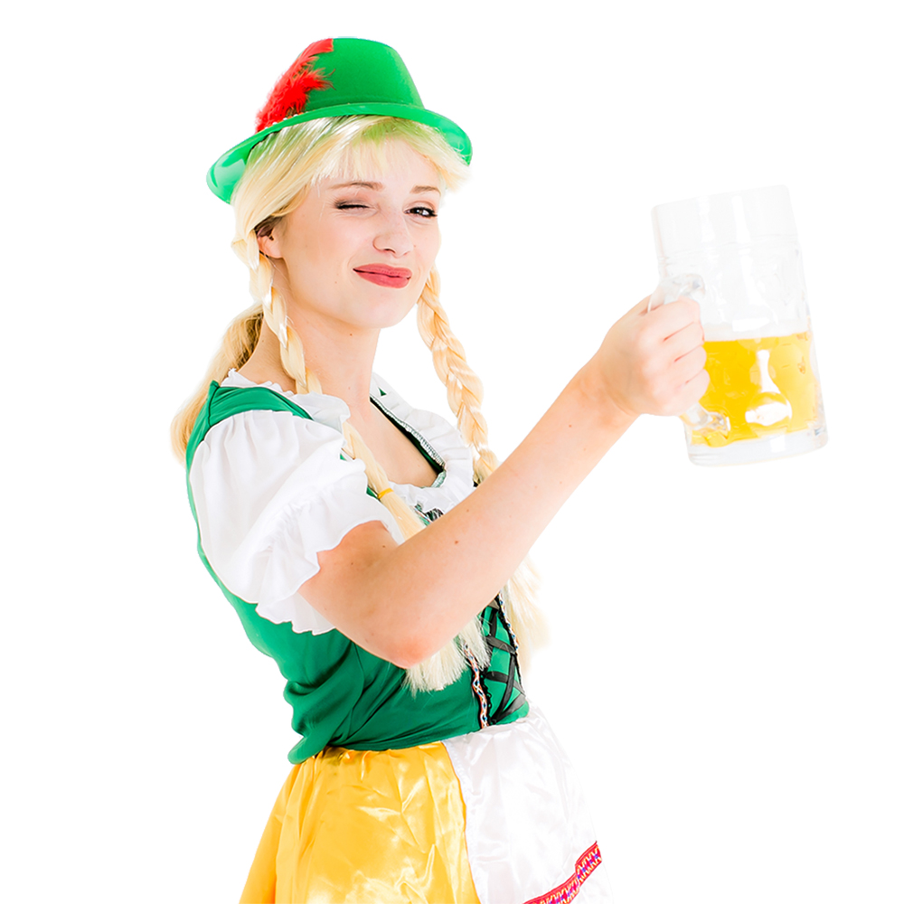 Beer wench wearing the hat