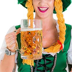 Bavarian Beermaid holding the giant beer stein