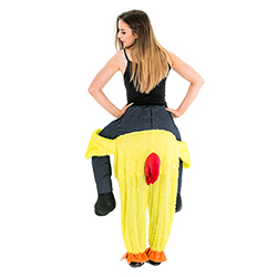 The back of the Carry Me Chicken outfit