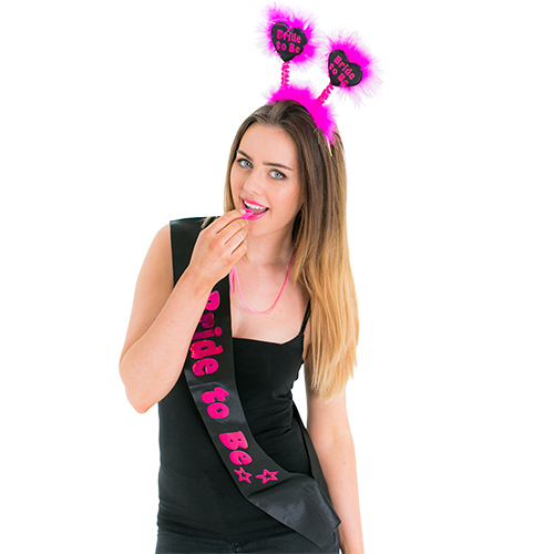 Model blowing whistle from the Black and Pink Hen Party Set