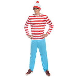 Hands On Hips Stripey Where's Wally Costume