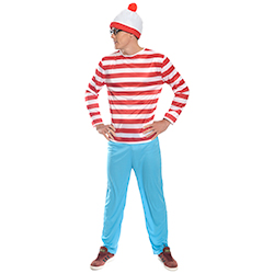 Man wearing Where's Wally costume