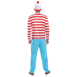Man wearing Where's Wally costume back
