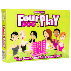 Close up of front of the Fourplay game box