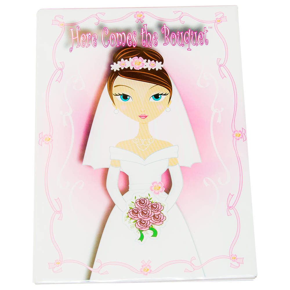 Here comes the bouquet hen party game front cover