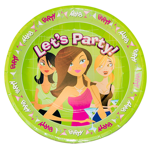 Front of the hen do truth or dare party plate