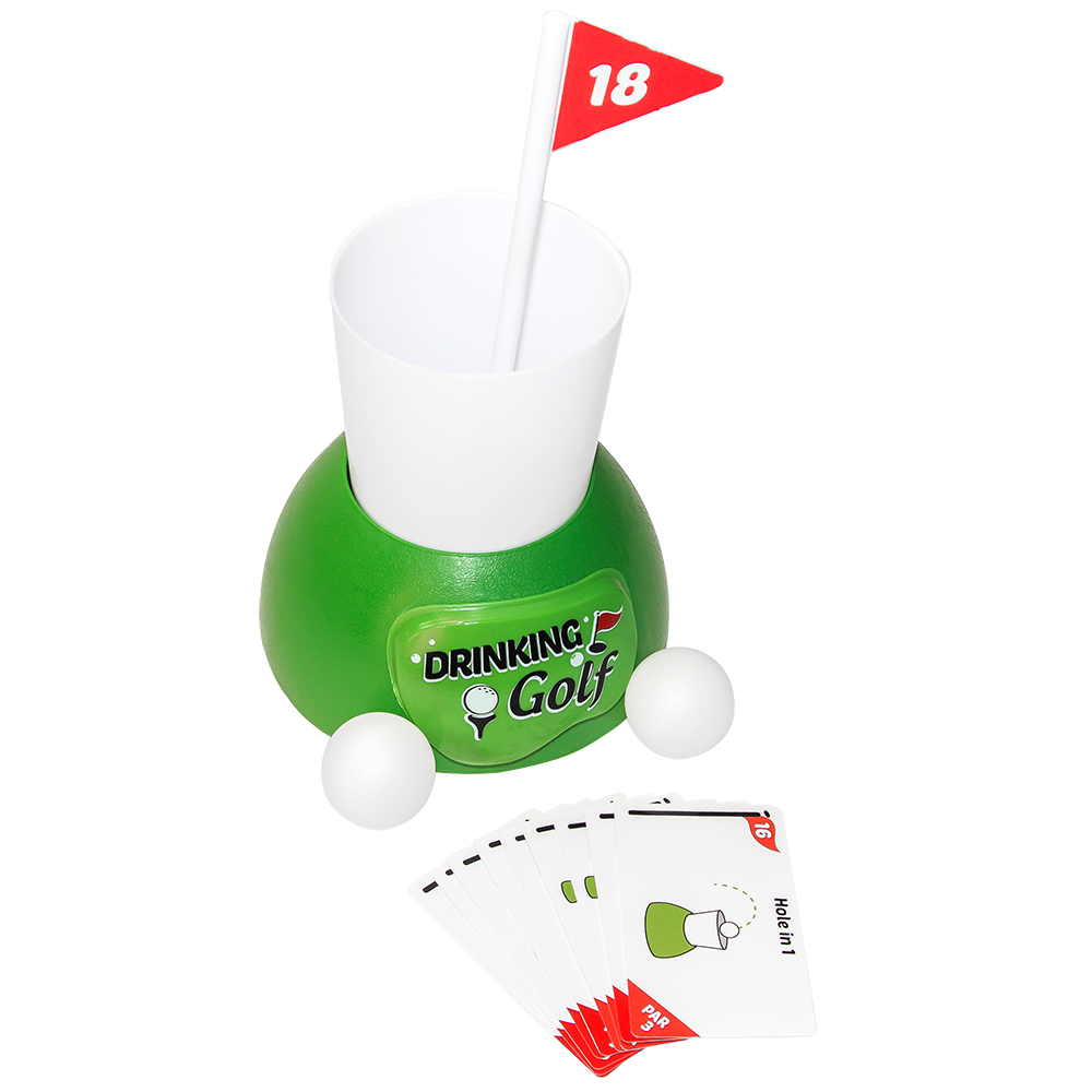 Image of drinking golf game with cards