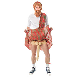 Well Hung Highlander Costume Showing The Novelty Willy