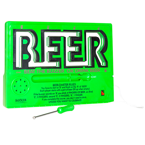 Front view of the Beer Ometer game