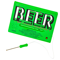 Beer Ometer game with electronic stylus out of holder