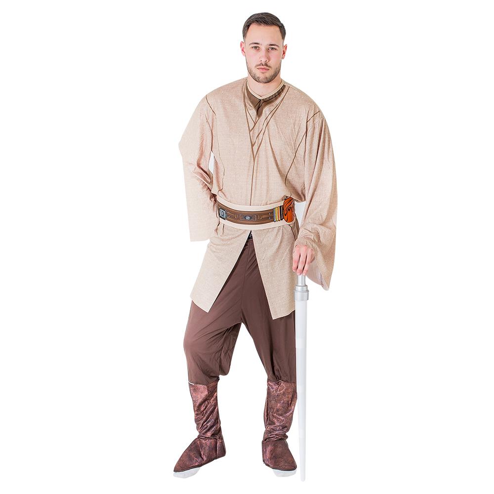 A model in a Jedi costume