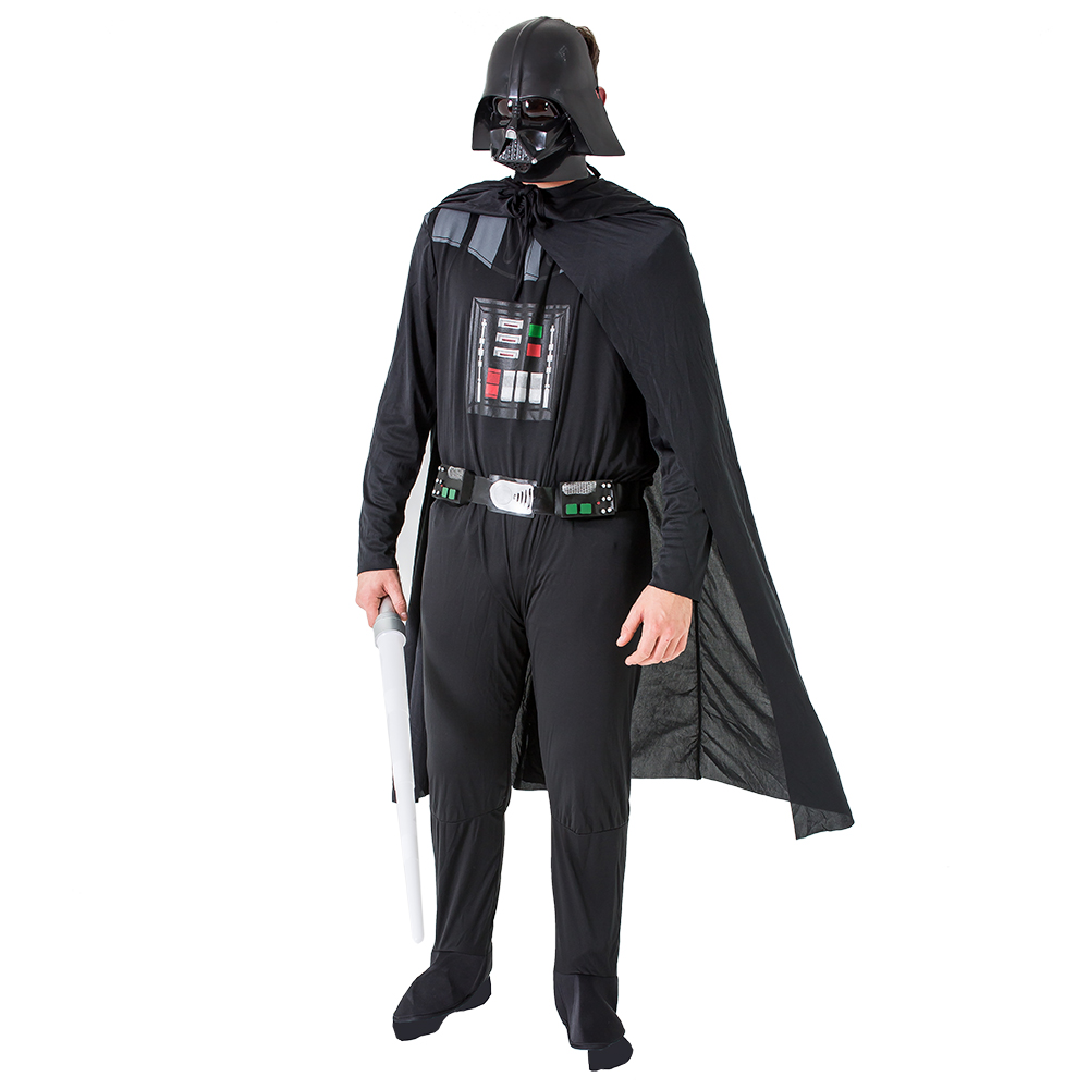 Darth Vader costume modeled with lightsaber
