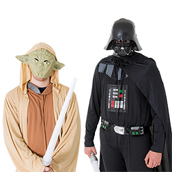Darth Vader and Yoda costumes modelled